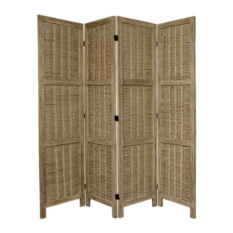 Shop Oriental Furniture 4 Panel Burnt Gray Wood Folding