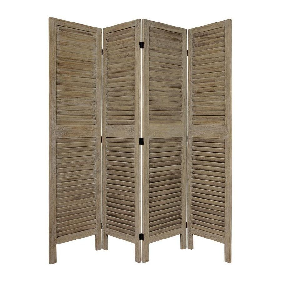 Shop oriental furniture classic venetian 4 panel burnt for Wood privacy screen panels