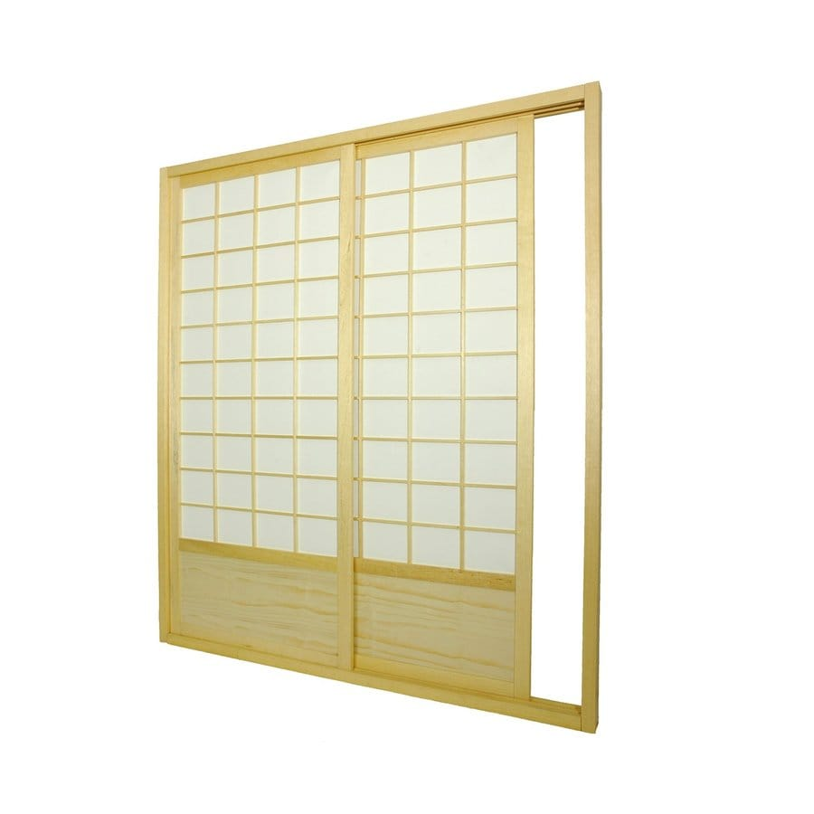 Shop oriental furniture 2 panel natural wood and paper for Wood privacy screen panels