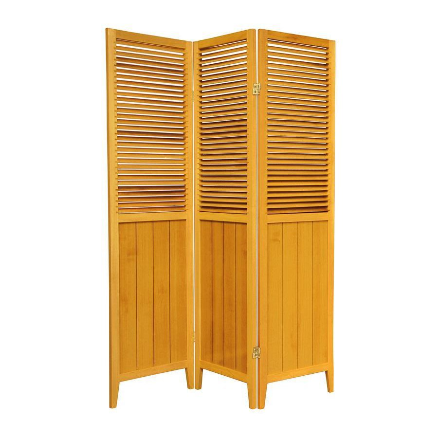 Shop Oriental Furniture 3 Panel Honey Wood Folding Indoor