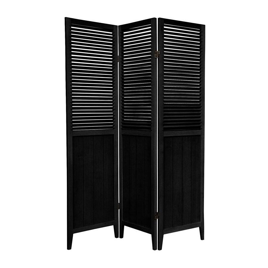 Oriental Furniture 5-Panel Honey Wood Folding Indoor Privacy Screen