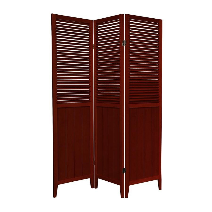 Oriental Furniture 3-Panel Rosewood Wood Folding Indoor Privacy Screen