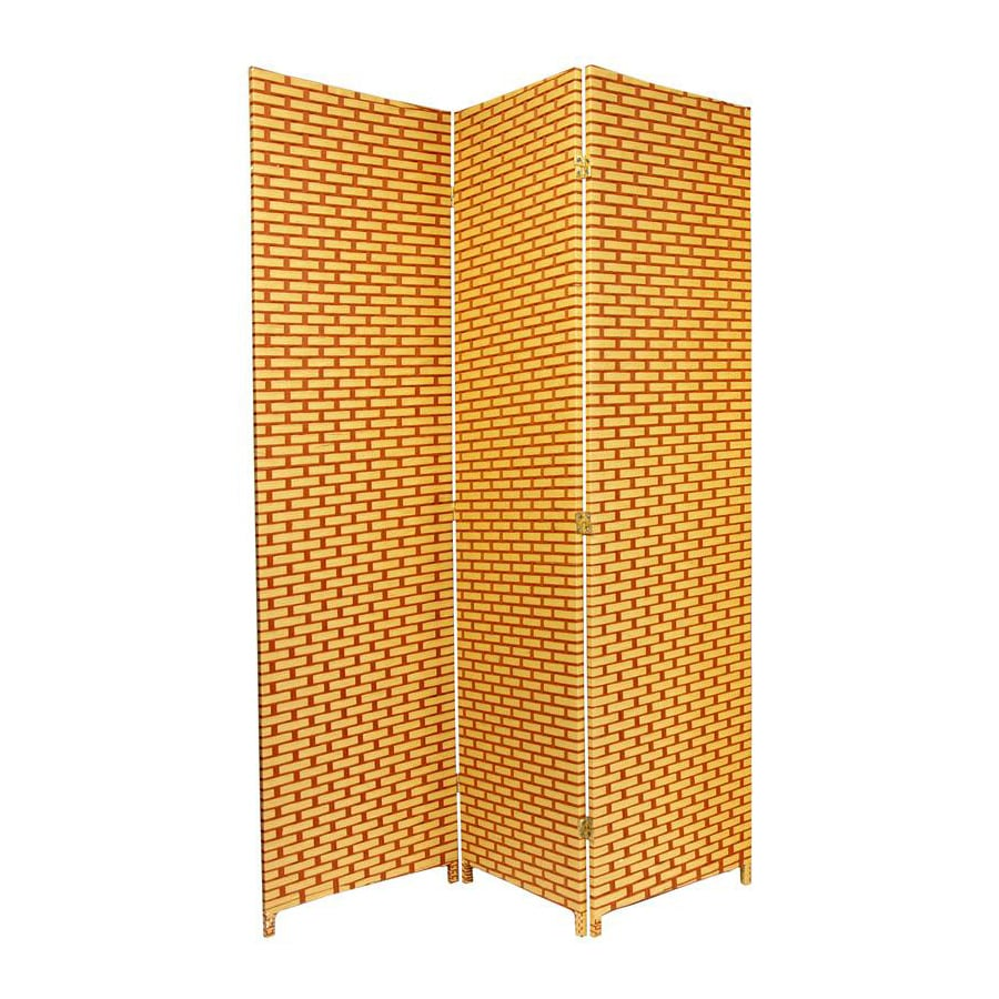 Shop Oriental Furniture 3 Panel Natural Rust Wood And