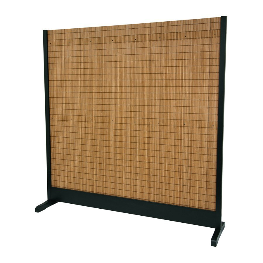 Shop Oriental Furniture 1 Panel Black Bamboo And Bamboo