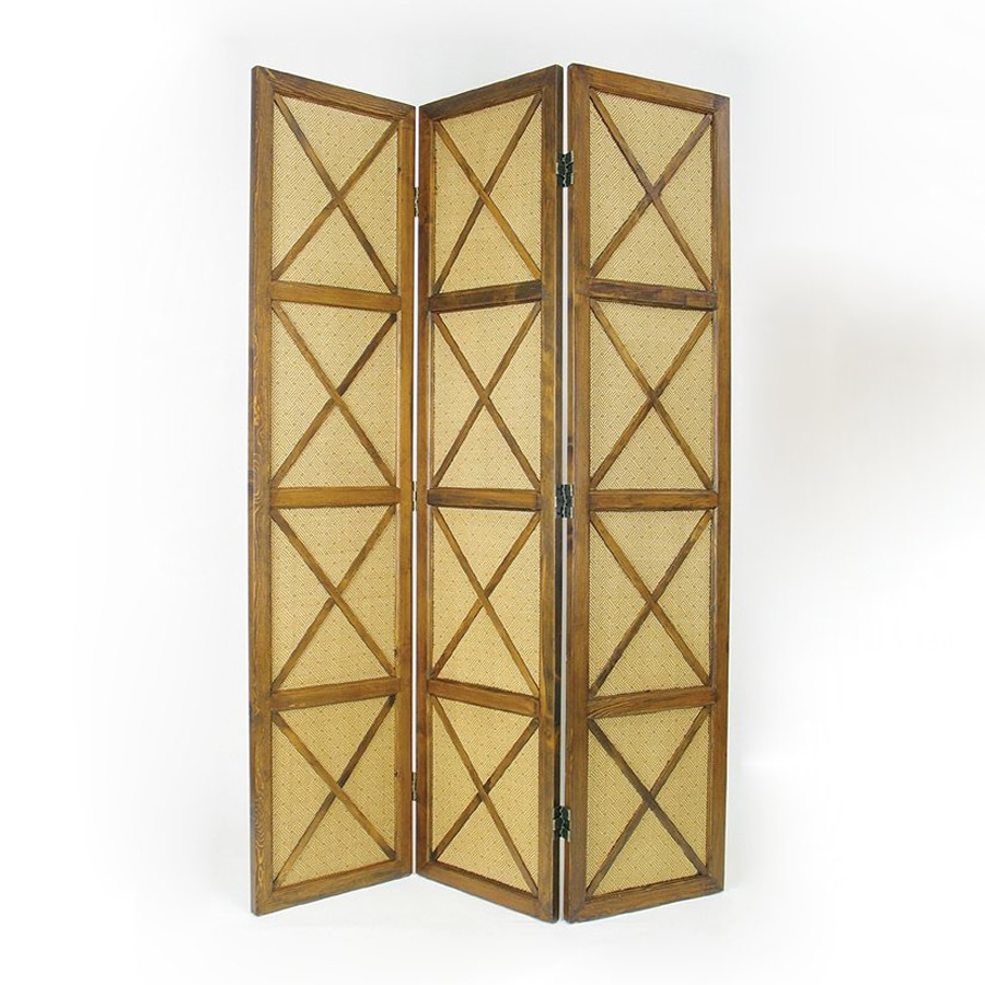 Oriental Furniture South Sea 3-Panel Natural Wood Folding Indoor Privacy Screen