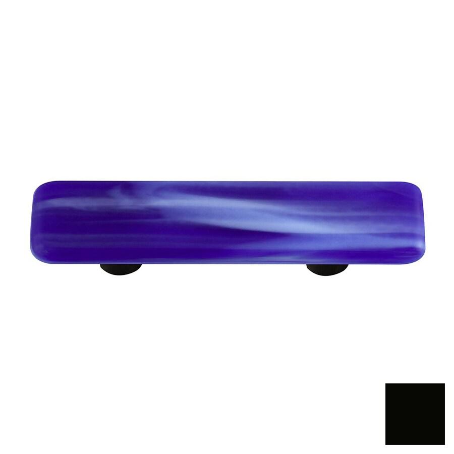 Hot Knobs 3-in Center-to-Center Black Swirl Rectangular Cabinet Pull