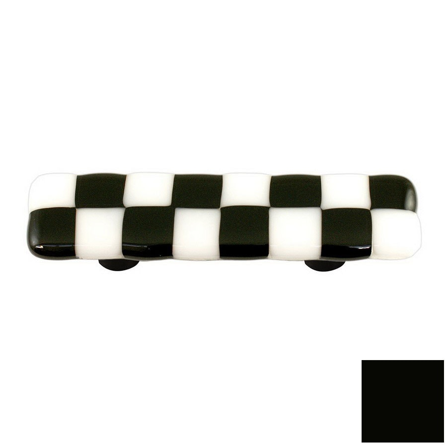Hot Knobs 3-in Center-to-Center Black Li'l Squares Rectangular Cabinet Pull