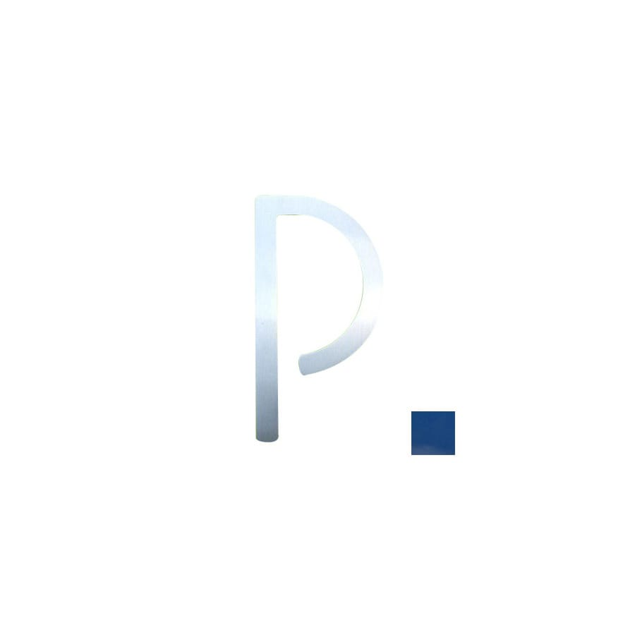 Shop houseart 5 in blue house letter p at lowescom for House letters lowes