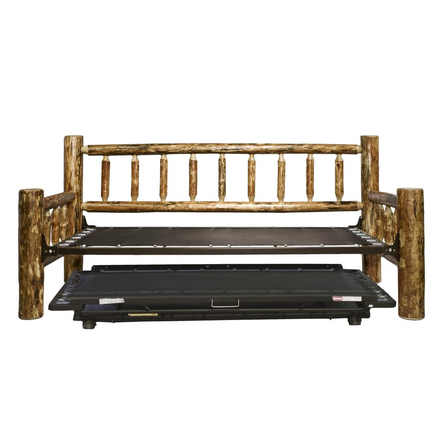 Montana Woodworks Glacier Country Stained and Lacquered Twin Bed with Trundle