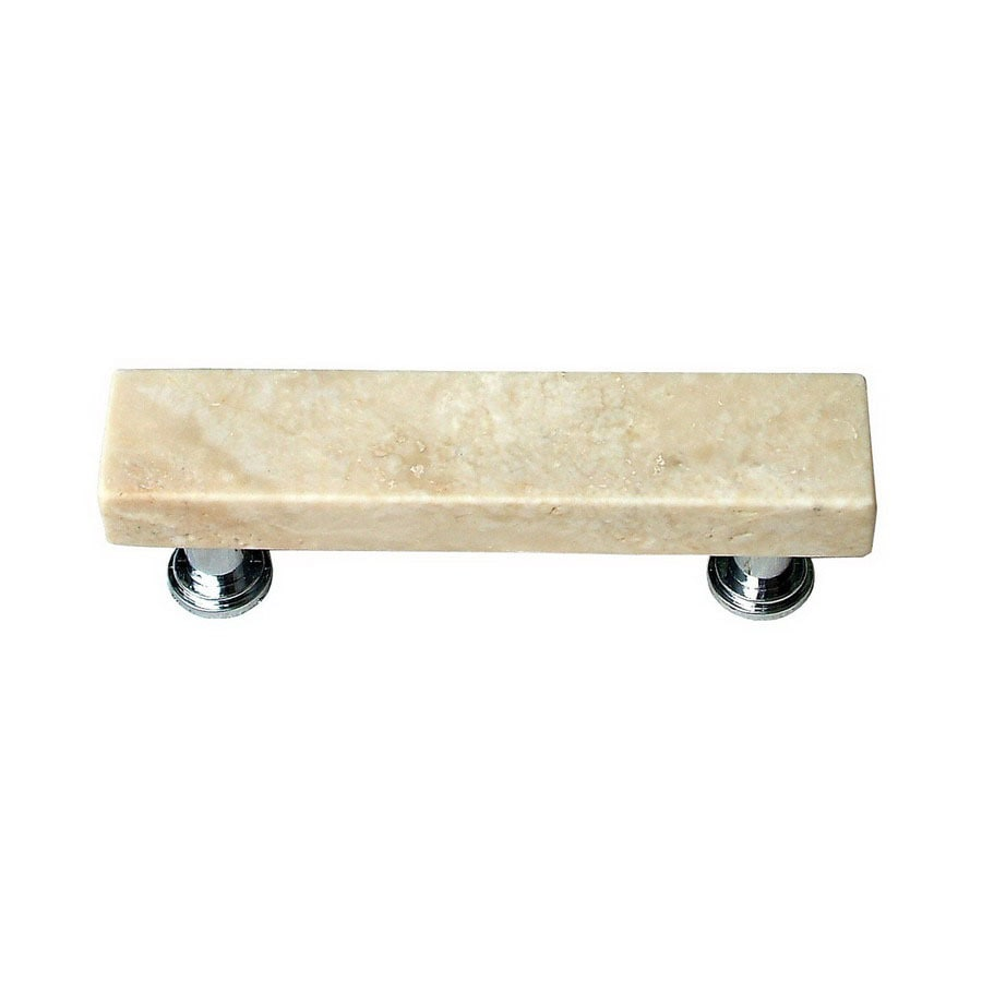 Vine Designs 3-in Center-to-Center Polished Chrome Tuscany Rectangular Cabinet Pull