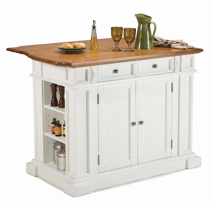 Kitchen Island Furniture Product: Shop Home Styles 48-in L X 25-in W X 36-in H White Kitchen