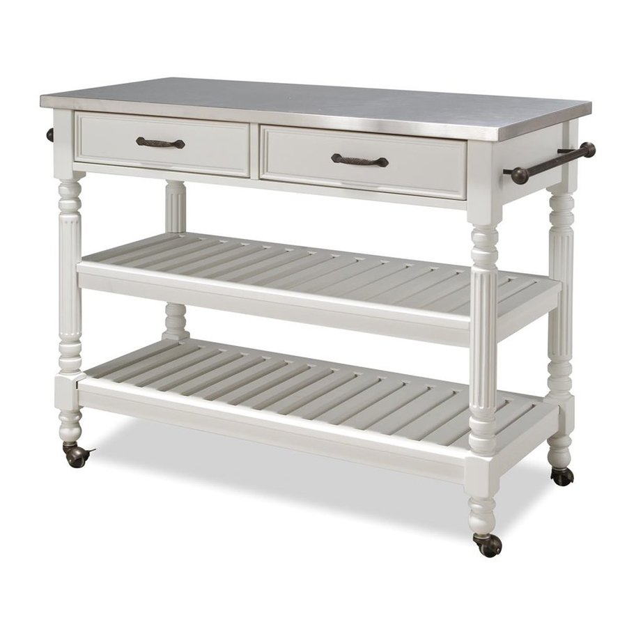 Shop Home Styles 47 25 In L X 20 5 In W X 36 In H White