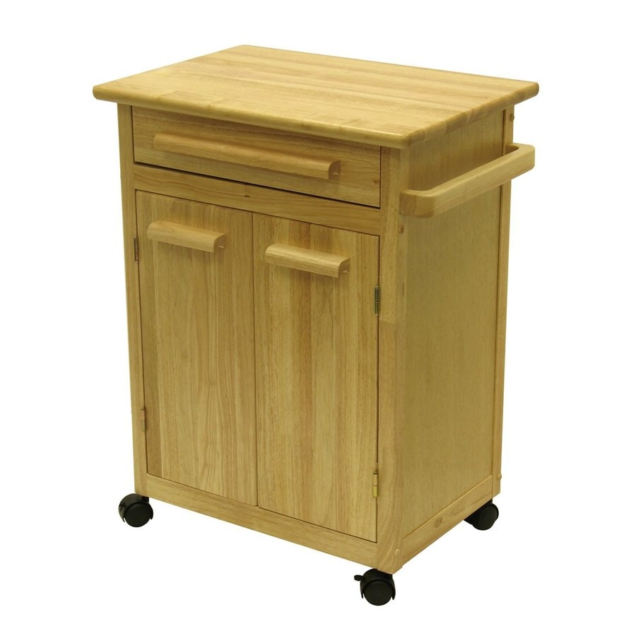 Http Www Lowes Com Pd Winsome Wood 27 In L X 18 25 In W X 34 5 In H Natural Kitchen Island With Casters 4377597