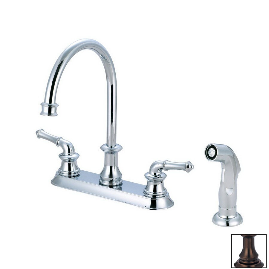 Pioneer Industries Del Mar Oil-Rubbed Bronze High-Arc Kitchen Faucet with Side Spray