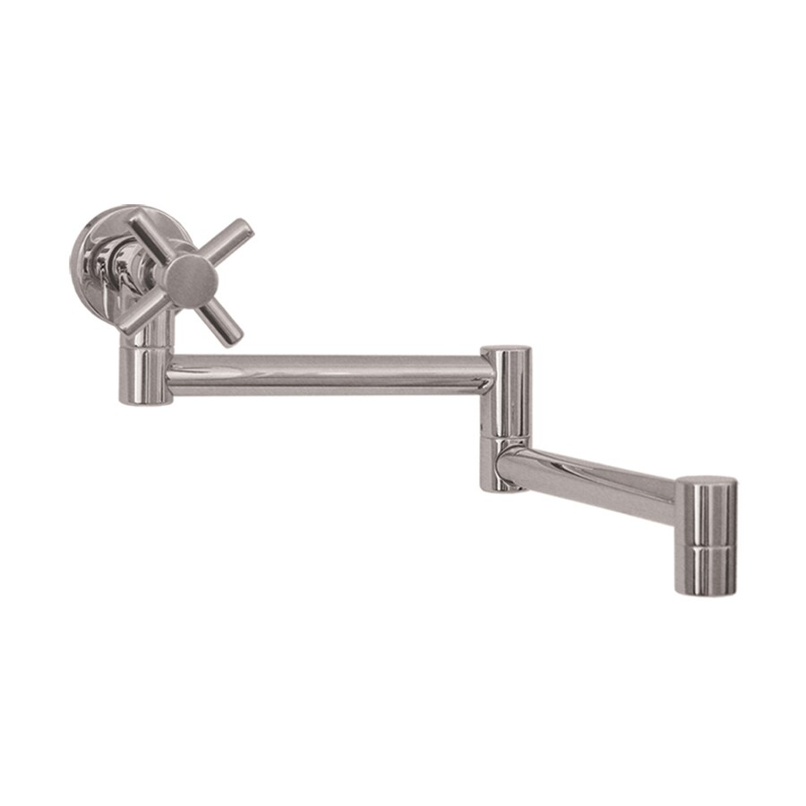 Whitehaus Collection Decohaus Stainless Steel/Brushed Nickel 1-Handle Pot Filler Wall Mount Kitchen Faucet