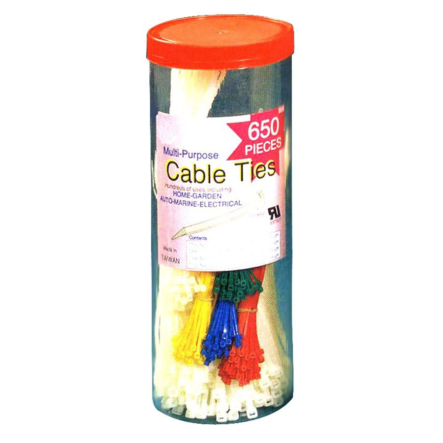 Morris Products 650-Pack Nylon Assorted Cable Tie