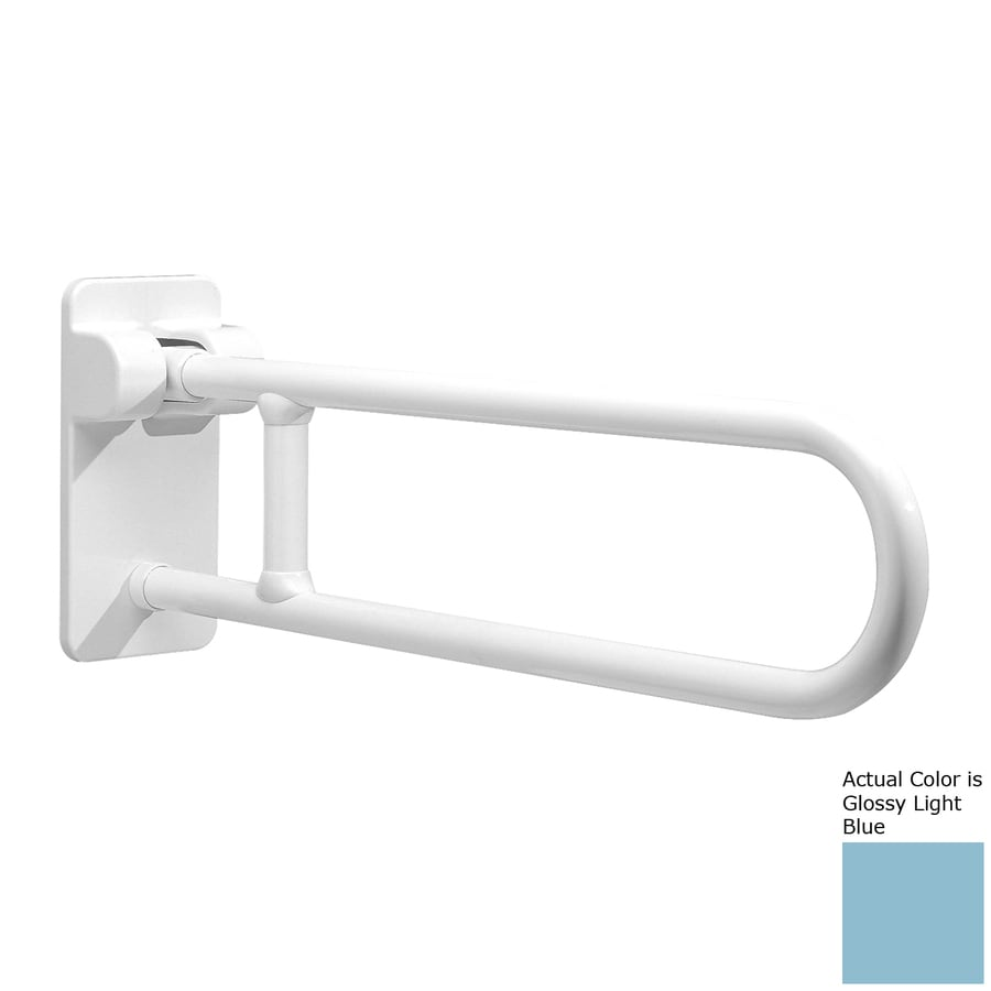 Ponte Giulio USA Glossy Light Blue Wall Mount Folding Grab Bar