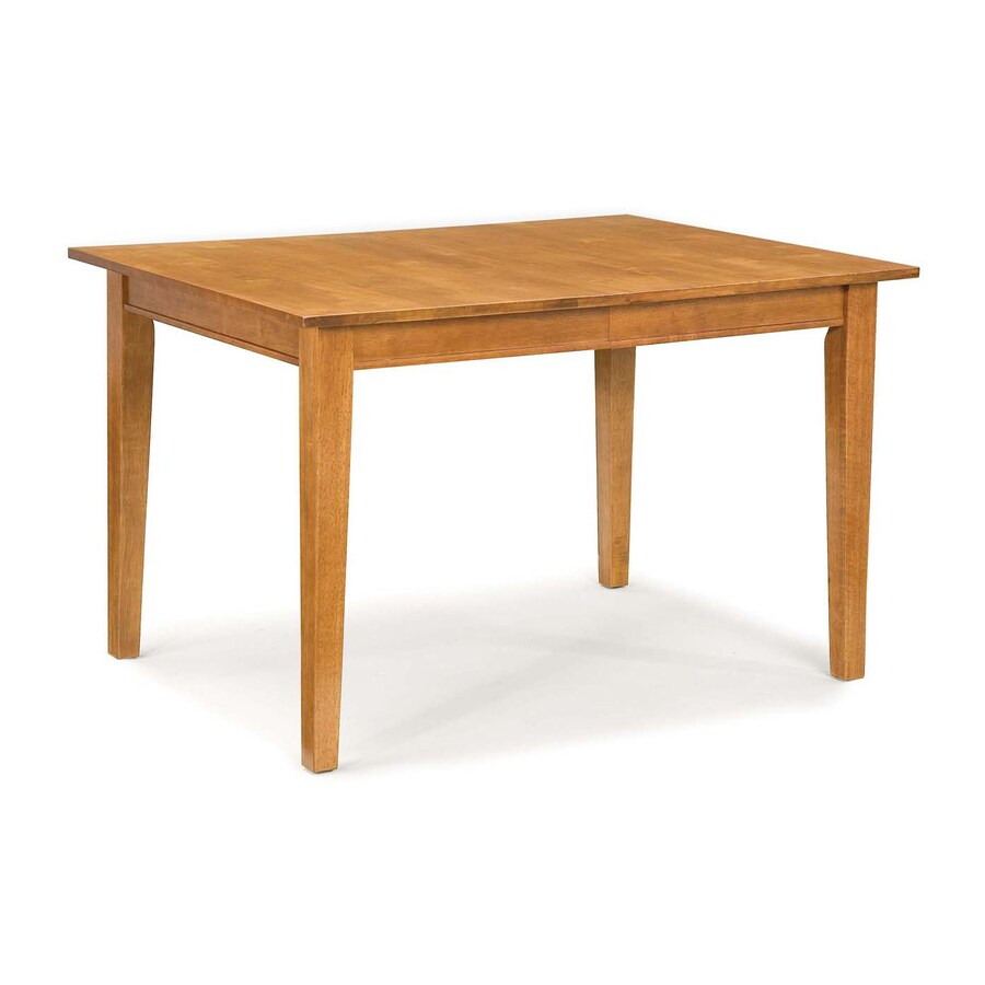 Shop home styles arts crafts cottage oak rectangular for Different dining table styles