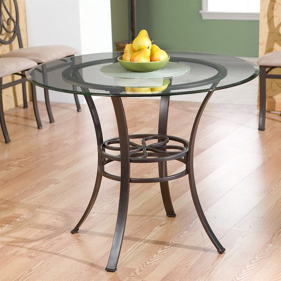 Boston Loft Furnishings Lucianna Dark Brown Round Dining Table