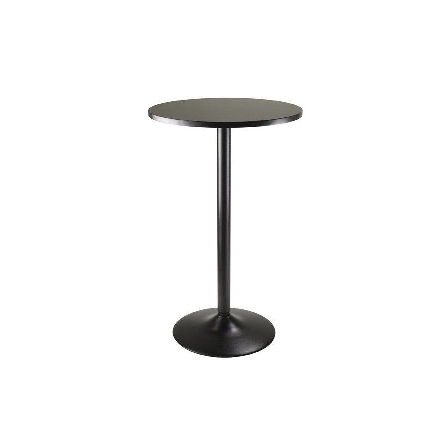 Winsome Wood Obsidian Black Round Bistro Table