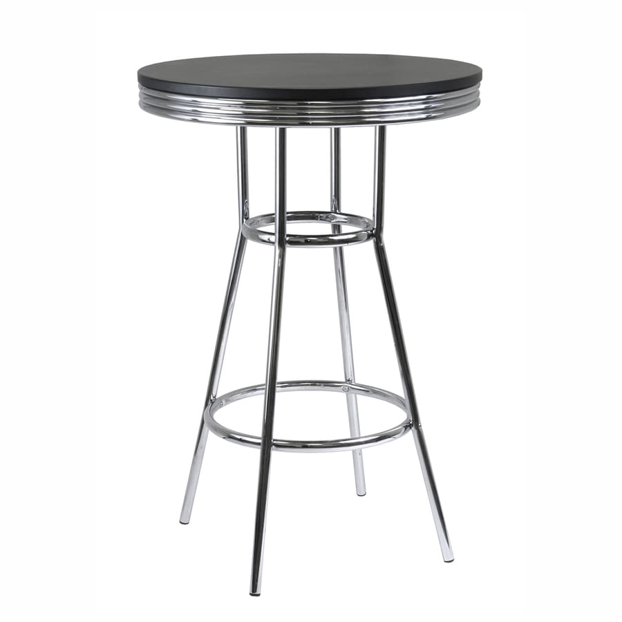 Winsome Wood Summit Black/Metal Round Bistro Table