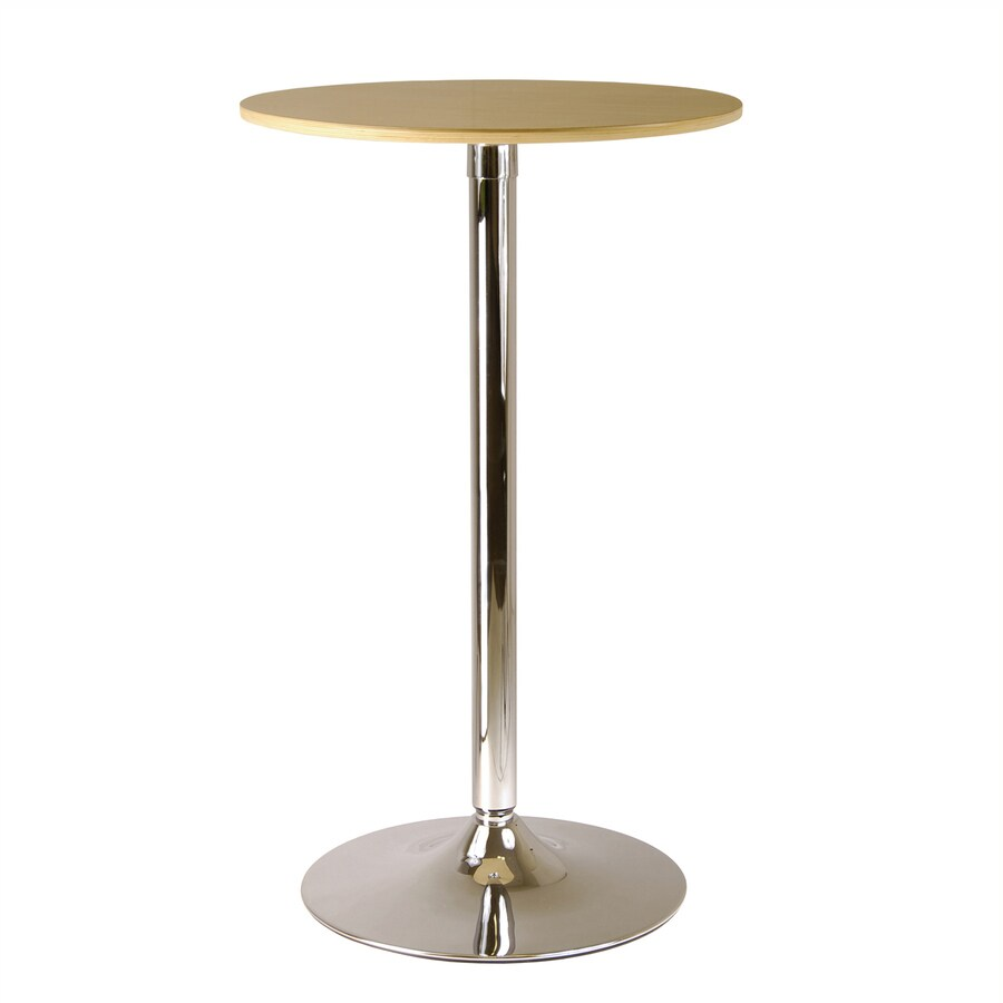 Winsome Wood Kallie Natural Wood/Metal Round Bistro Table