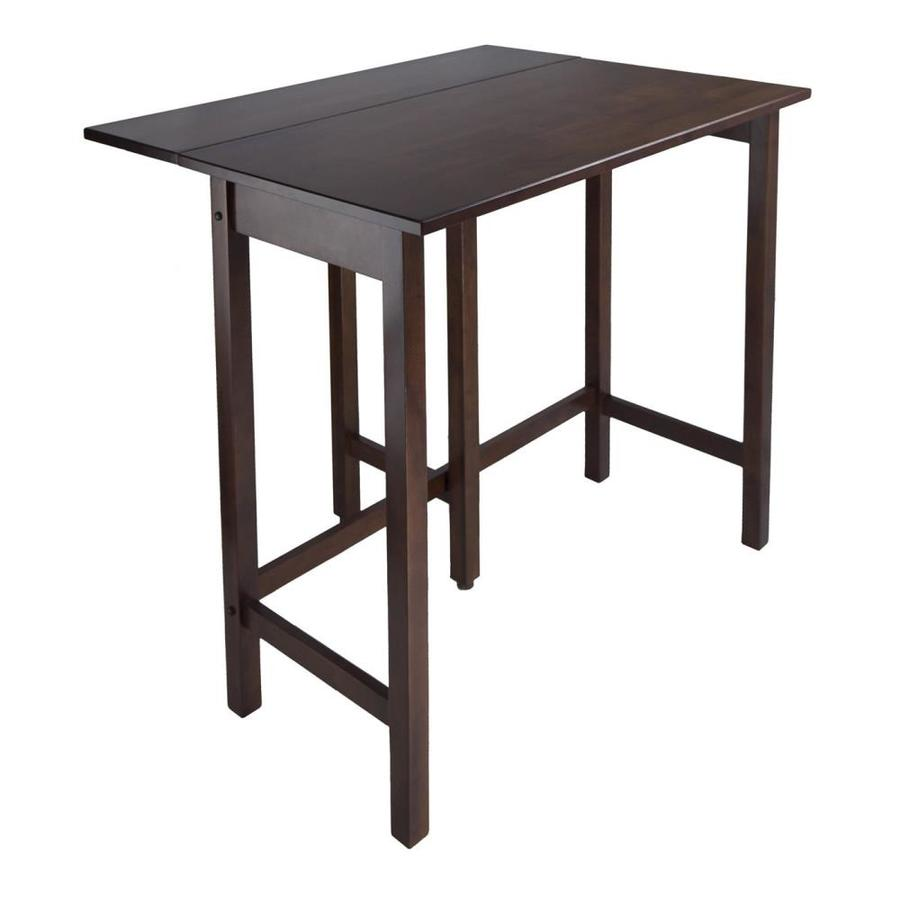 Shop winsome wood lynnwood antique walnut rectangular dining table at - Rectangular kitchen tables ...