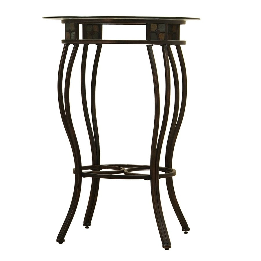 Boraam Industries Gold Round Dining Table