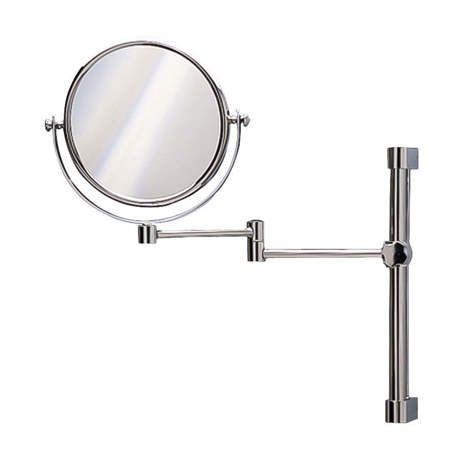 Nameeks Windisch Chromed Brass 3x Magnifying Wall-Mounted Makeup Mirror