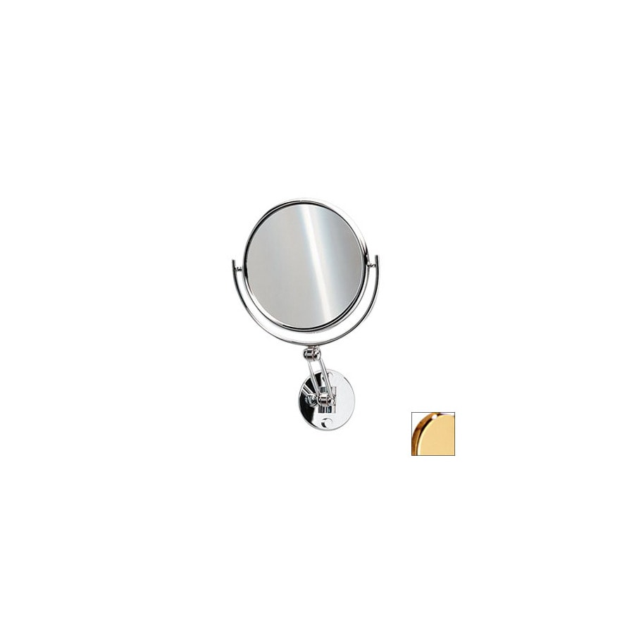 Nameeks Windisch Gold Brass 3x Magnifying 5.5-in Wall-Mounted Vanity Mirror