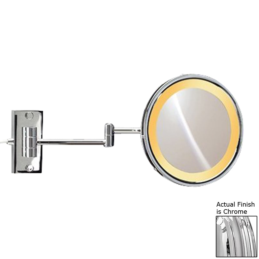 Shop Nameeks Windisch Chromed Brass 3x Magnifying 9-in Extendable Wall-Mounted Vanity Mirror ...