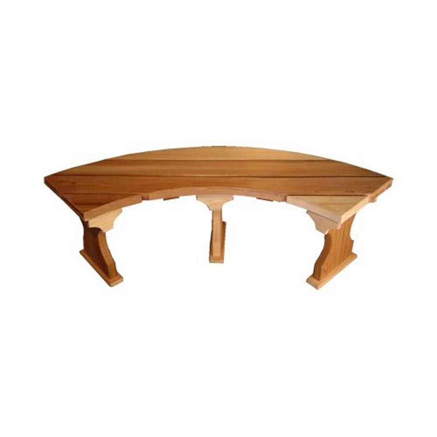 All Things Cedar 15-in W x 60-in L Unfinished Cedar Patio Bench