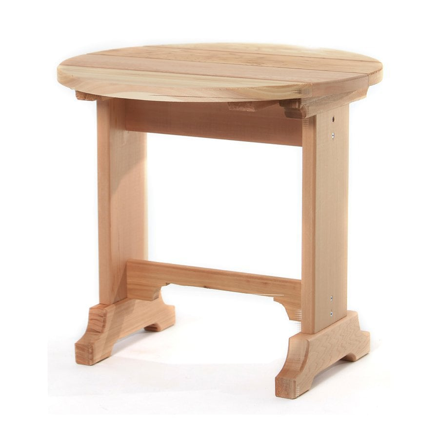 All Things Cedar 21-in W x 21-in L Round Cedar End Table