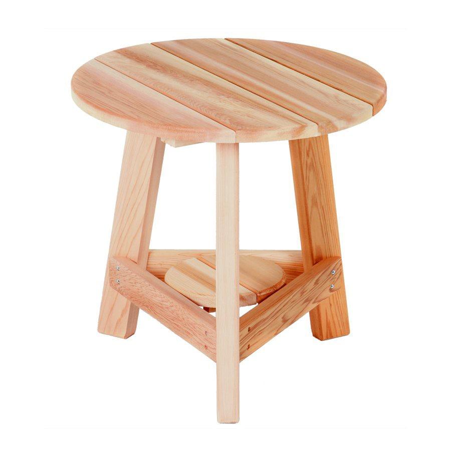 All Things Cedar 21-in x 21-in Sand Cedar Round Patio End Table