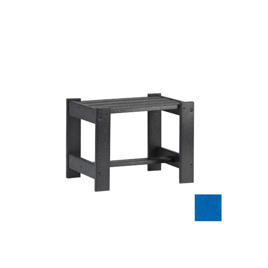 Siesta Furniture Simply Siesta 19.5-in x 14-in Blue Rectangle Patio End Table