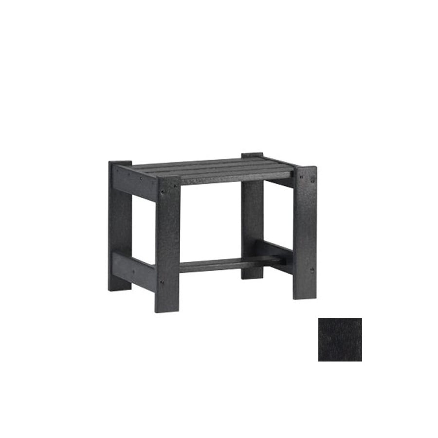 Siesta Furniture Simply Siesta 19.5-in x 14-in Charcoal Rectangle Patio End Table