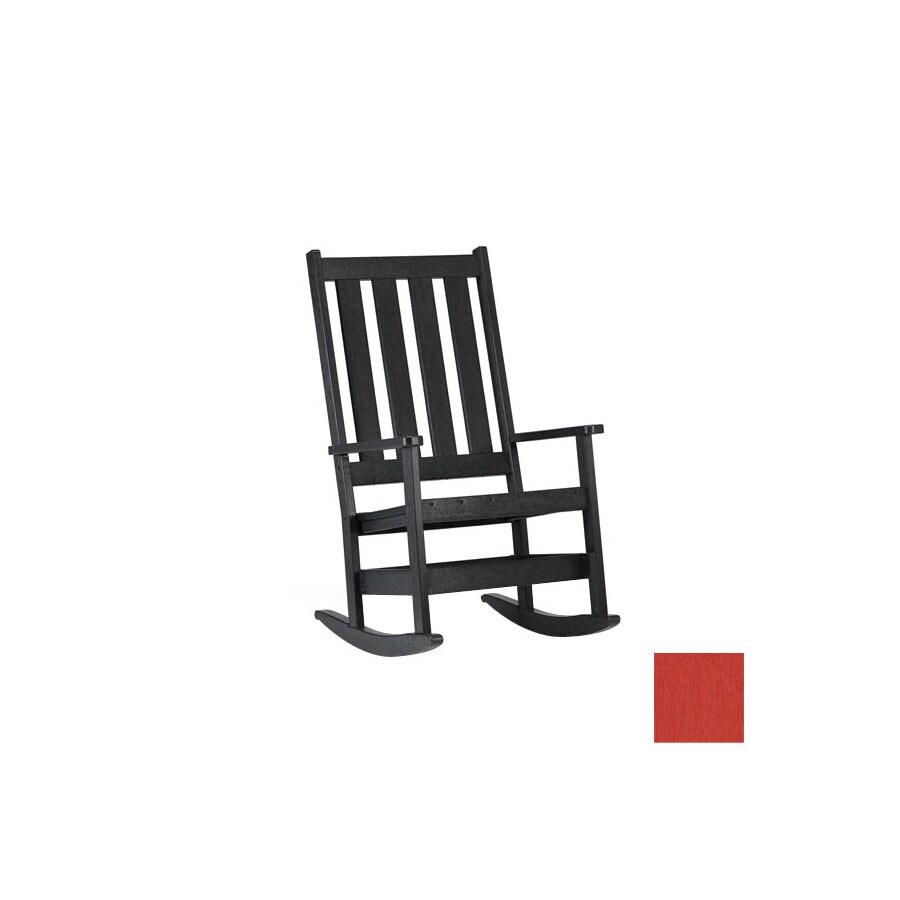 Shop Siesta Furniture Simply Siesta Red Plastic Slat Seat Outdoor Rocking Chair At