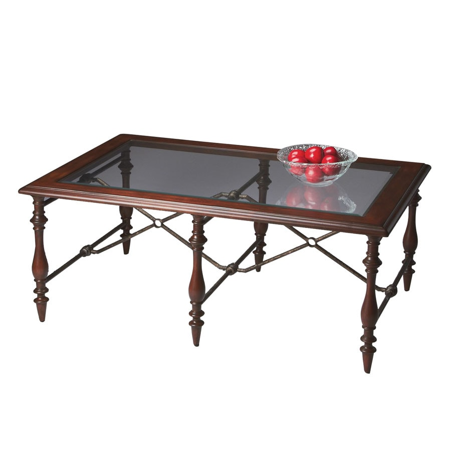 Shop Butler Specialty Metalworks Fruitwood Rectangular Coffee Table At