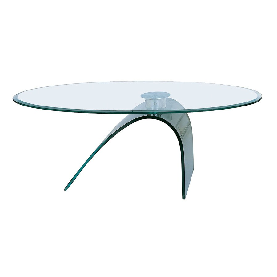 Shop Bh Design Black Oval Coffee Table At