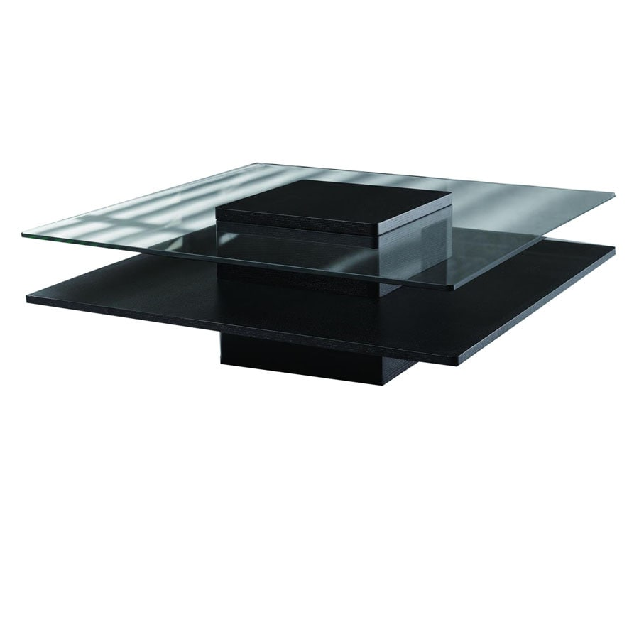 Shop new spec cota black clear glass square coffee table at Clear coffee table