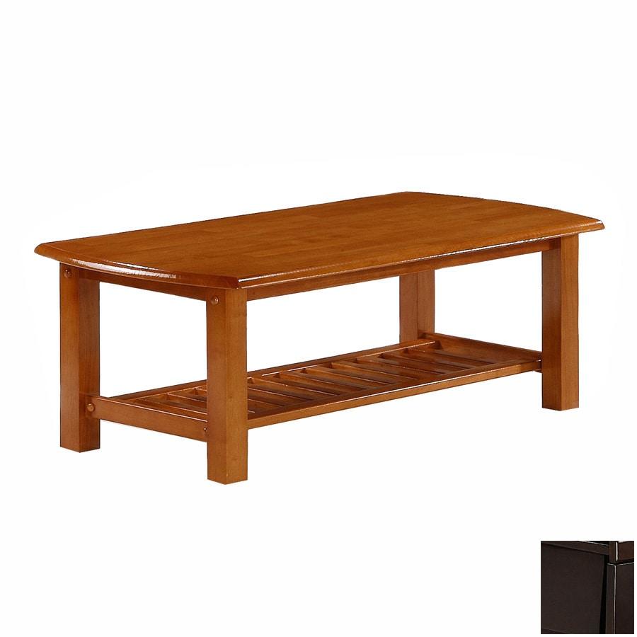 Night & Day Furniture Standard Dark Chocolate Rectangular Coffee Table
