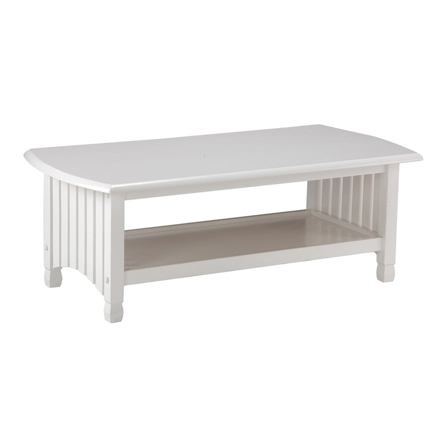 Night & Day Furniture Standard White Rectangular Coffee Table