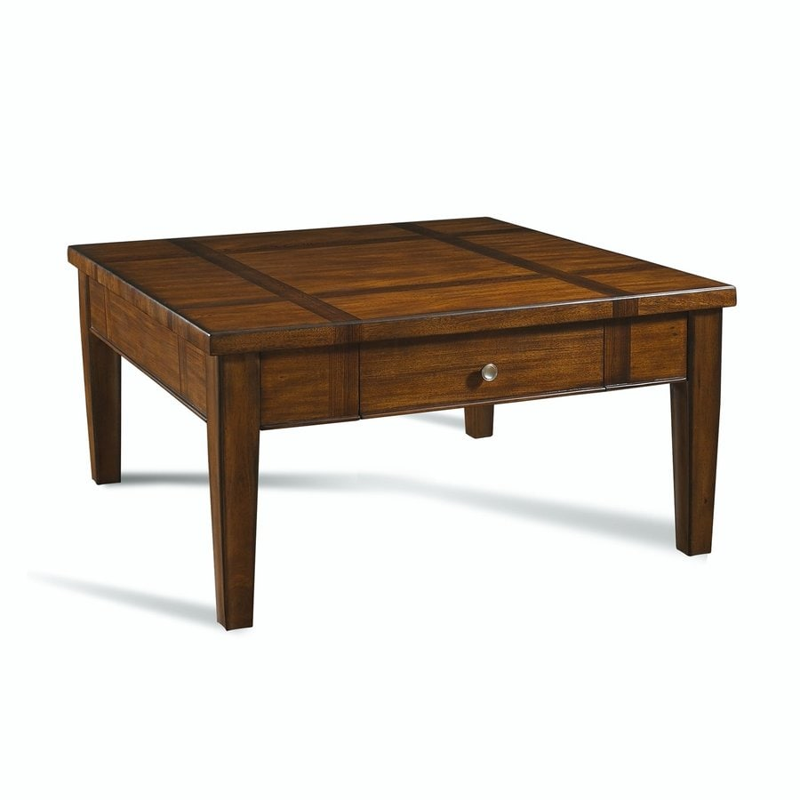 Shop Somerton Home Furnishings Runway Medium Dark Brown Poplar Square Coffee Table At