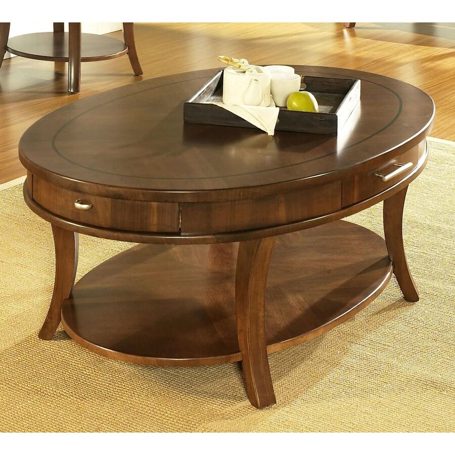 Ts Round Coffee Table Medium: Shop Somerton Home Furnishings Gatsby Medium Brown Walnut