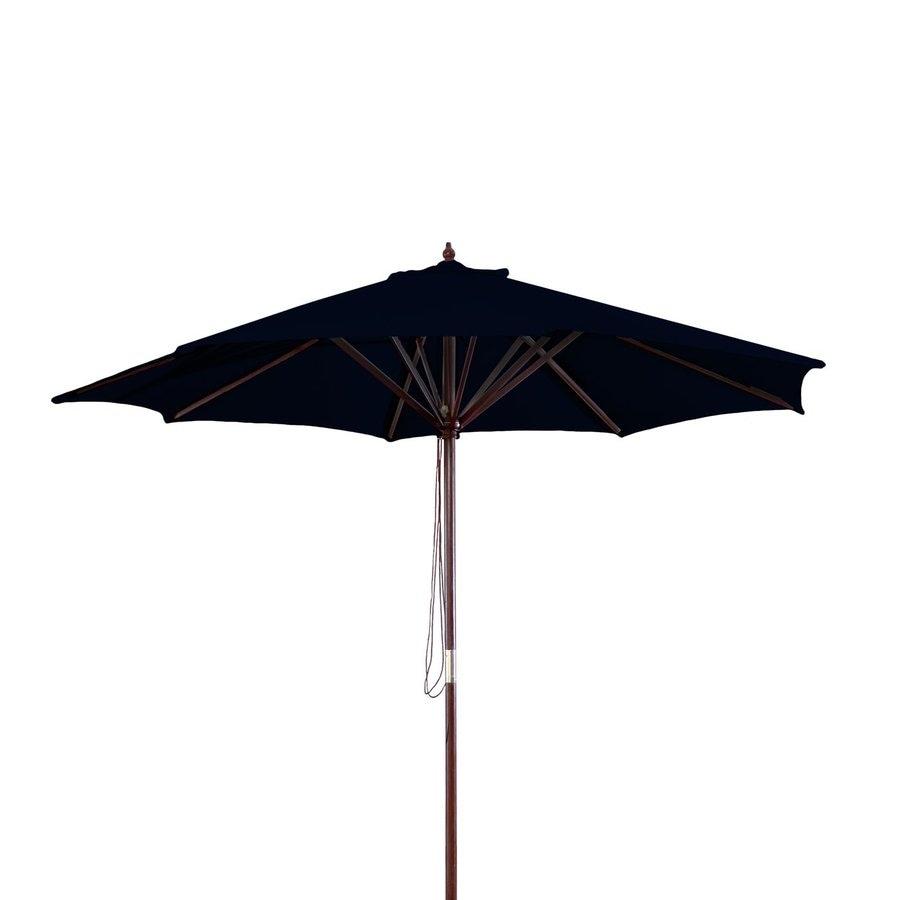 Jordan Manufacturing Black Market Patio Umbrella (Common: 9-ft W x 9-ft L; Actual: 9-ft W x 9-ft L)