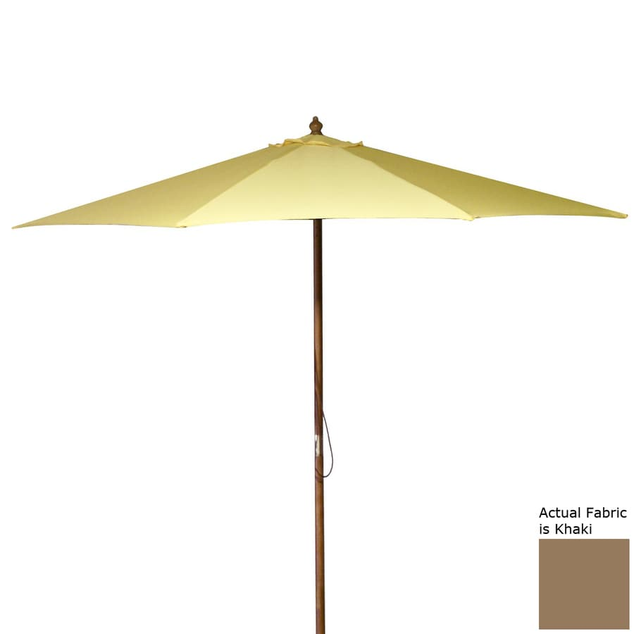Jordan Manufacturing Khaki Market Patio Umbrella (Common: 9-ft W x 9-ft L; Actual: 9-ft W x 9-ft L)