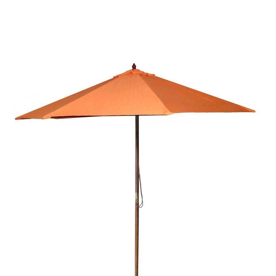 shop jordan manufacturing orange market patio umbrella