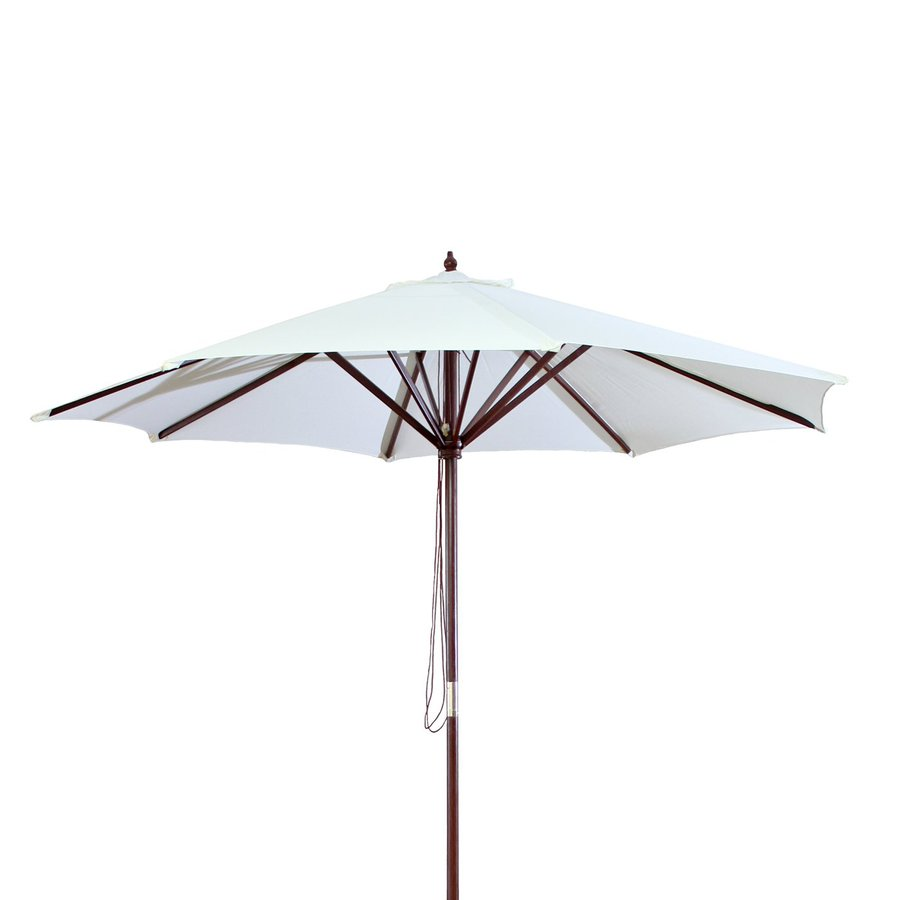 Jordan Manufacturing Natural Market Patio Umbrella (Common: 9-ft W x 9-ft L; Actual: 9-ft W x 9-ft L)