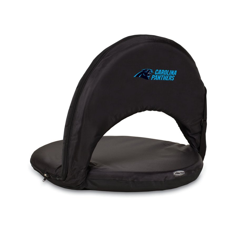 Picnic Time Indoor/Outdoor Steel Carolina Panthers Bleacher Folding Chair