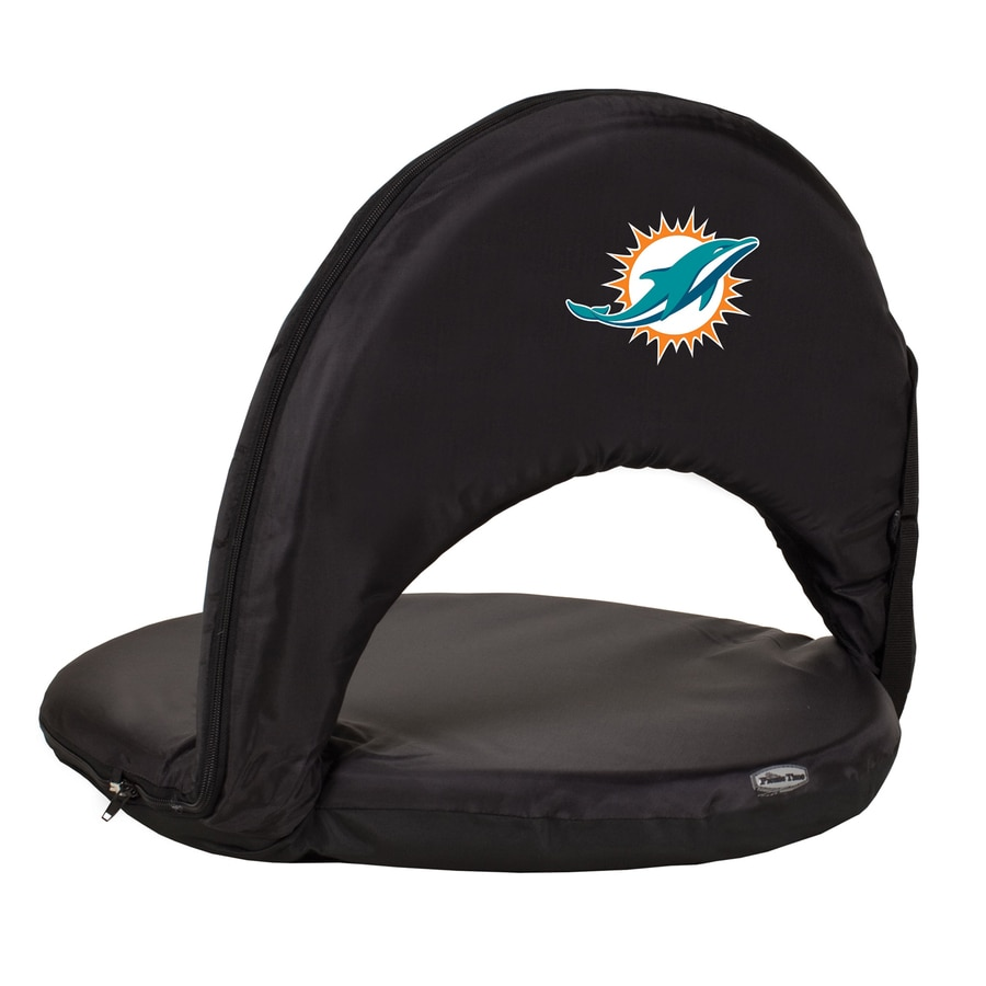 Picnic Time Indoor/Outdoor Steel Miami Dolphins Bleacher Folding Chair